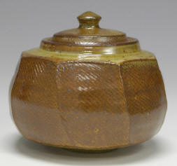 Small Faceted Shino Jar